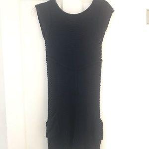 Navy Kersh Knit Sweater Dress Sz M